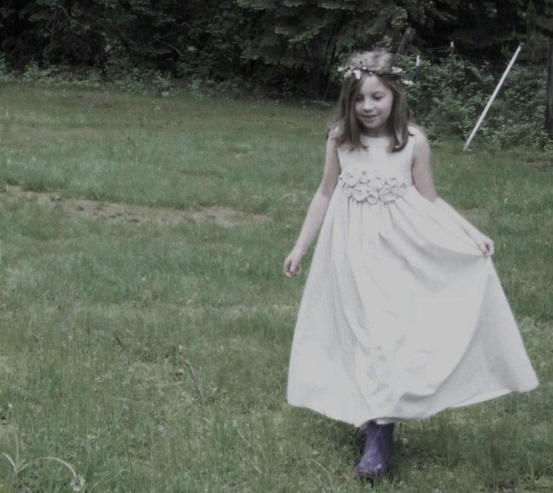 beach flower girl dress cotton flower girl dress Flower girl dress country flower girl dress