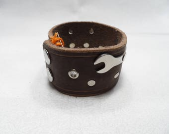 Mechanic's Armband - Brown 9.5""