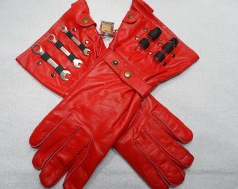 Mechanic's Gloves - Red Medium