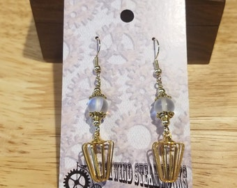 Caged Moons Earrings