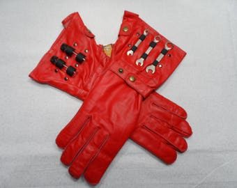 Mechanic's Gloves - Red Small