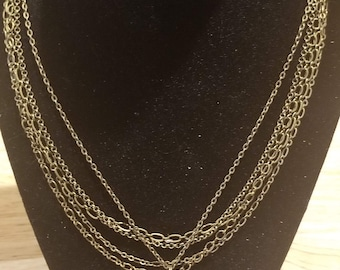 Multi-Chain Watch Movement Necklace *B2*