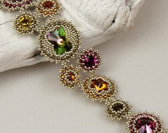 Rivoli Cluster (beaded bracelet or pendant) / PDF file