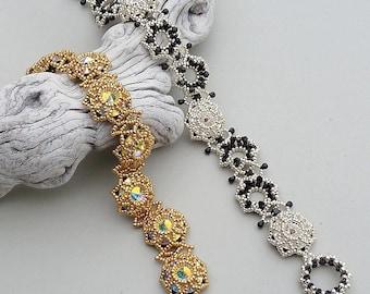 Glitzy Bitz (beaded bracelet)/ PDF file