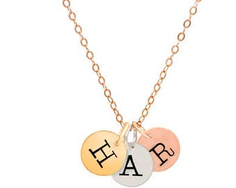 discs  mommyjewelry  letters  initials  mommynecklace letter necklace  jewelry for moms