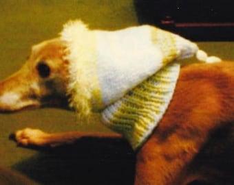 Whippet Tassel Hat knitting pattern Download