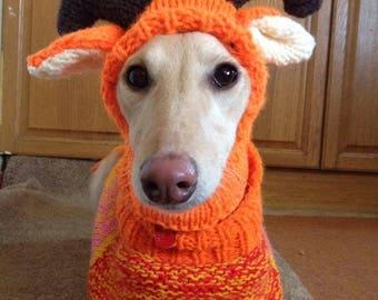 Whippet reindeer hat knitting pattern Download