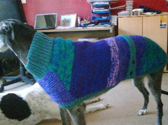 Windhund Mantel Stricken Muster kostenlose UK Porto