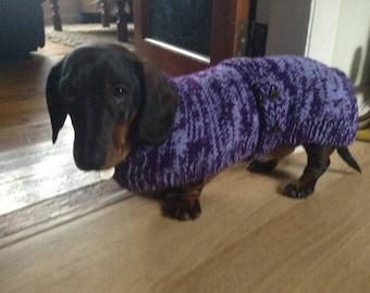 Dachshund Coat knitting pattern Download