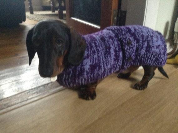 Dachshund Coat Knitting Pattern Free Uk Postage Etsy