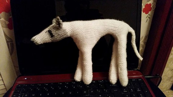 Knitting Pattern To Make Small Danny The Greyhound Model Toy Etsy