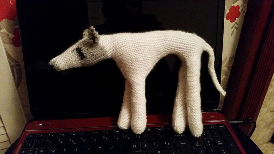 Knitting Pattern to make Small Danny the Greyhound model / toy Free ...