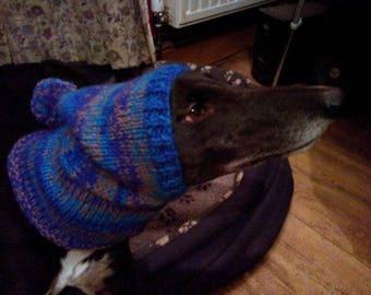 Greyhound & Whippet Pompom Hat Knitting Pattern Download