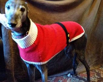 Greyhound Santa Coat Knitting Pattern Download