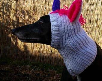 Greyhound Fancy Dress Unicorn Hat Knitting Pattern Download