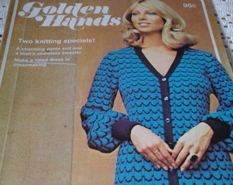 1972 Golden Hands Magazine Part 62 ~ Pants Suit and Man's Seamless Sweater