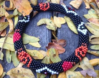 Halloween Bead Crochet Bracelet Pattern Bead Crochet Pattern Bead Crochet