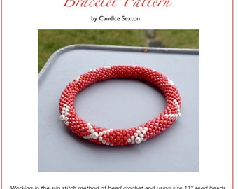 Valentine's Day Bead Crochet Bracelet Pattern Bead Crochet Pattern