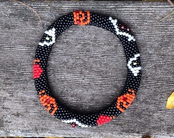 Halloween Bead Crochet Bracelet Pattern Bead Crochet Pattern Bead Crochet