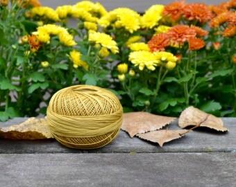 Harvest Gold crochet thread, high quality Lizbeth brand 100% Cordonnet Cotton