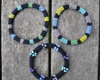 Bead Crochet Bracelets Kit - 3 Colorband Bangles Kit