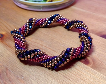 Berry Twist Bead Crochet Slip Stitch Bracelet Pattern