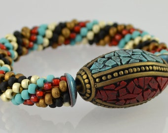 Bead Crochet Kit for the Beginner - Tribal Bead Bracelet