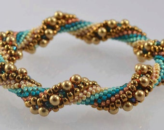 Arizona Desert Bead Crochet Bracelet Pattern - Instructions for bracelet and Hints doc included