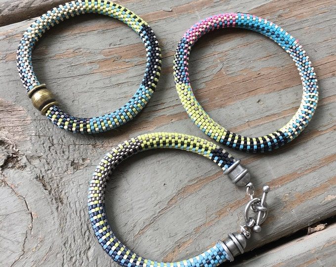 Featured listing image: Beth Series - 9 Around Bead Crochet Slip Stitch with all 3 Bracelet Patterns