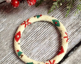 Holiday Ornament Bead Crochet Bracelet Pattern Bead Crochet Pattern Bead Crochet