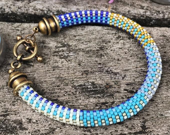 Featured listing image: Susan Bracelet Pattern - 9 Around Bead Crochet Slip Stitch