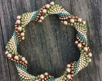 Woodland Bead Crochet Kit - Intermediate Bead Crochet Kit with Pearls, Crystals, Beads, Thread, and Pattern included