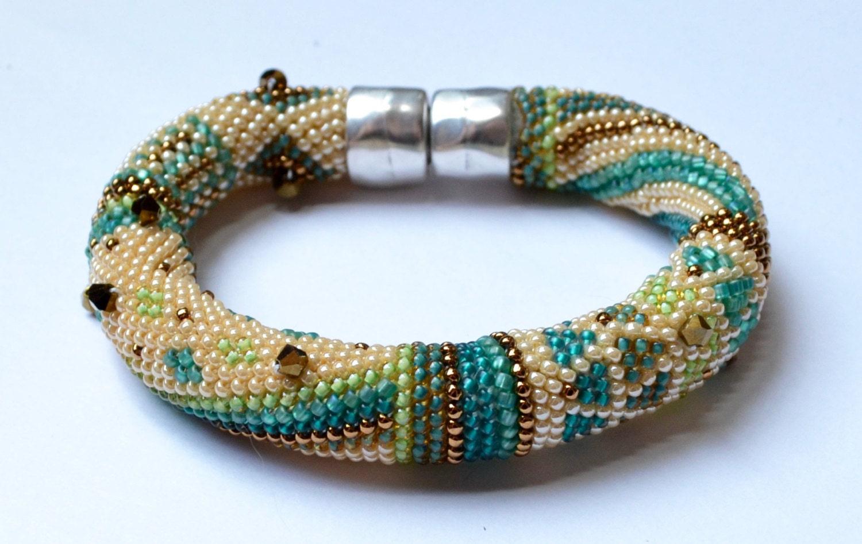 Single Crochet With Beads Beginnings Bracelet 2 Pattern Colorways