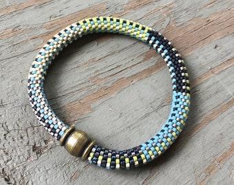 Beth No. 1 Bracelet Pattern and Kit - 9 Around Bead Crochet Slip Stitch
