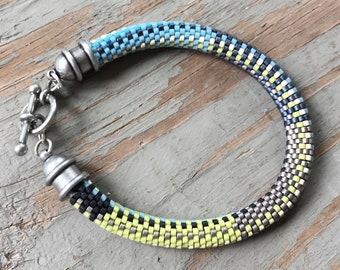 Beth No. 2 Bracelet Pattern and Kit - 9 Around Bead Crochet Slip Stitch