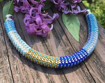 Susan 16-around Single Stitch Bead Crochet Bracelet Pattern & Kit