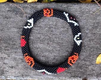 Halloween Bead Crochet Bracelet Pattern & Bead Kit Bead Crochet Pattern Bead Crochet