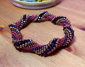 Berry Twist Bead Crochet Slip Stitch Bracelet Pattern