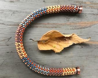Chris Slip Stitch Bead Crochet Bracelet Pattern & Kit using Toho PermaFinish colors