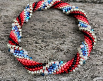 The Patriot Bead Crochet Slip Stitch Pattern - giving back during COVID pandemic
