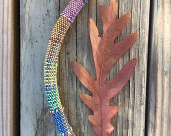 Indian Summer Bracelet Kit  - Single Stitch Bead Crochet Pattern & Kit