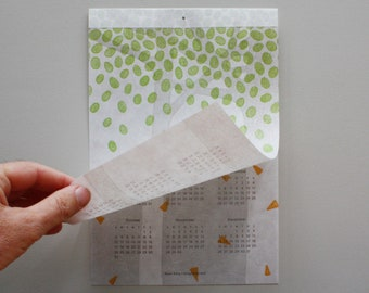 Seasons Change - Two-page Letterpress Wall Calendar (2021)