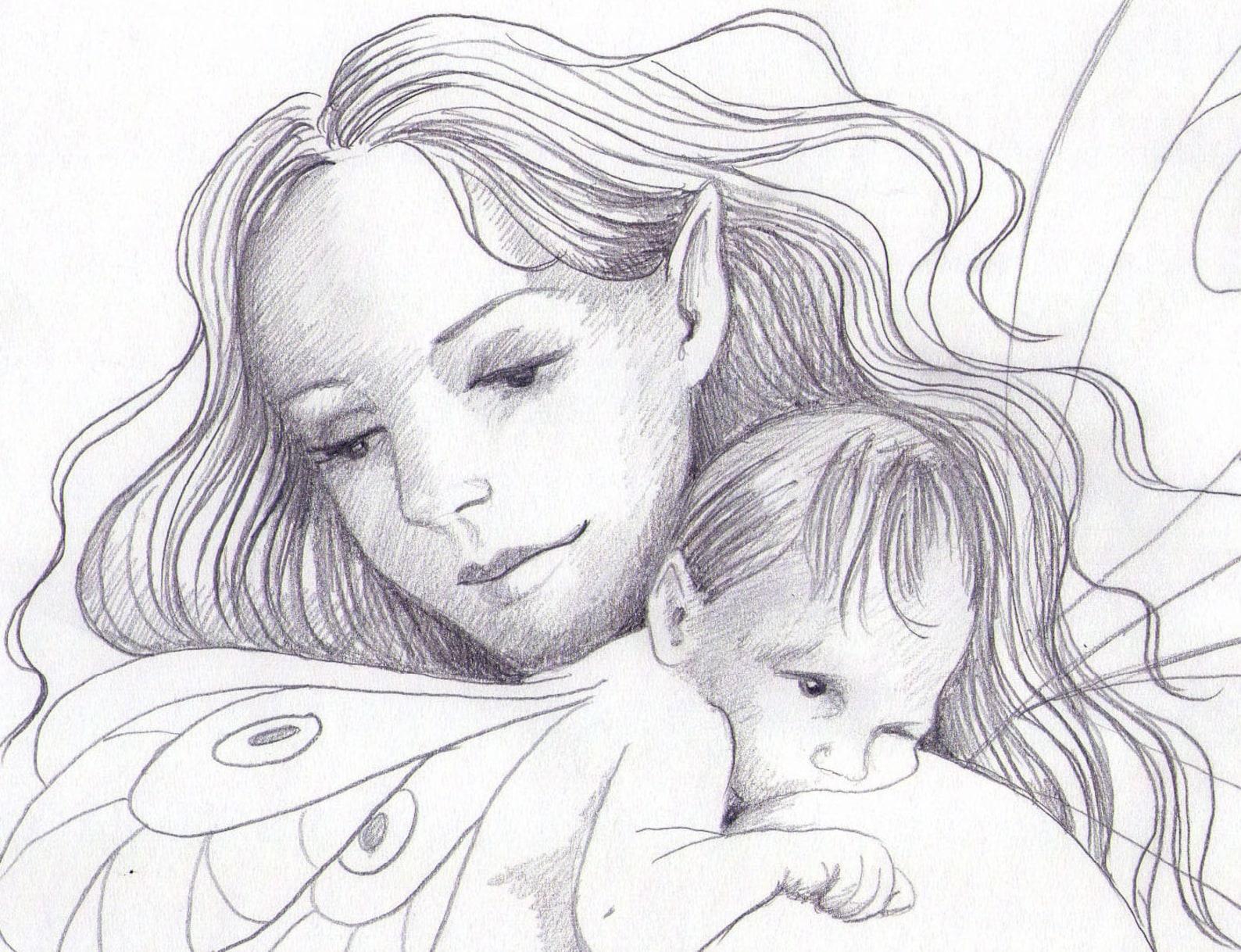 Раннего, картинки карандашом для мамы