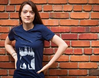 Bear Ursa Major Constellation T-shirt Women's