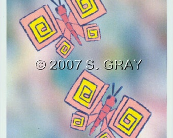 ACEO Boxyflies 2 butterfly butterflies nature fantasy digital art limited edition print