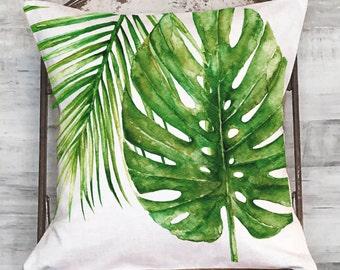 Pillow Cover Tropical Palm No. 2