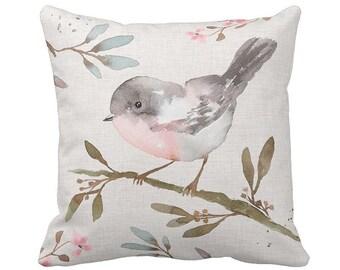Pillow Cover Springtime Watercolor Bird