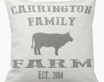 Pillow Cover Personalized Pillow Family Farmhouse Style Pillow Cover