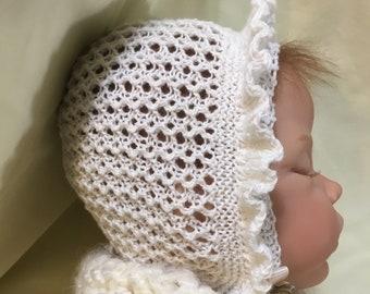 Caroline Vintage Style Bonnet & Booties Knitting Pattern