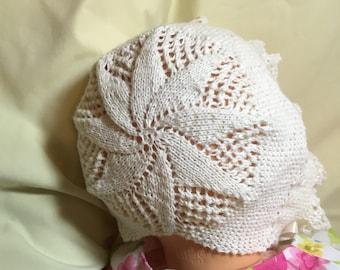 Lillian Vintage Style Bonnet & Booties PDF Knitting Pattern